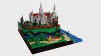 LEGO Microscale, brickd: Seaside Castle 2.0 (by Toltomeja)