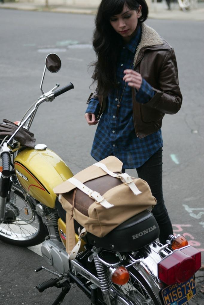 Girl Style Bike Motorcycle Motorbike Scrambler Scrambling •