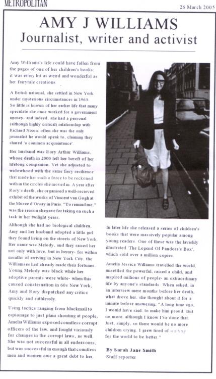 Stepchild of the Sun — Amy J Williams- Journalist, writer