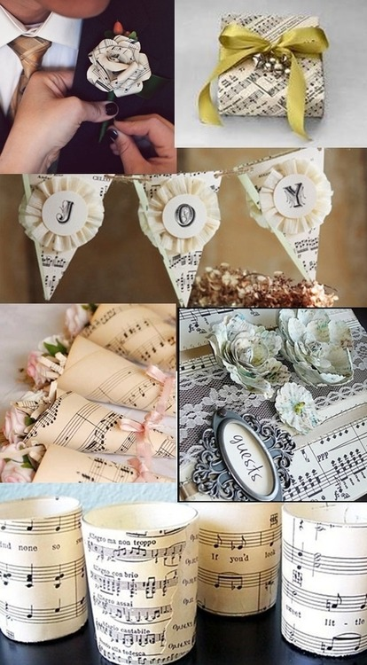 """Favor Couture  """"music Theme Wedding Favors"""""""