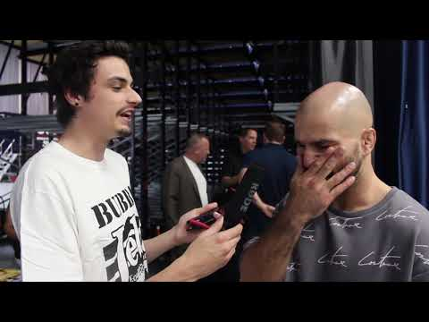 Stoned Joey Logano at the Bareknuckle FC weigh in