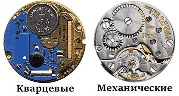 Принцип работы кварцевых и механических часов