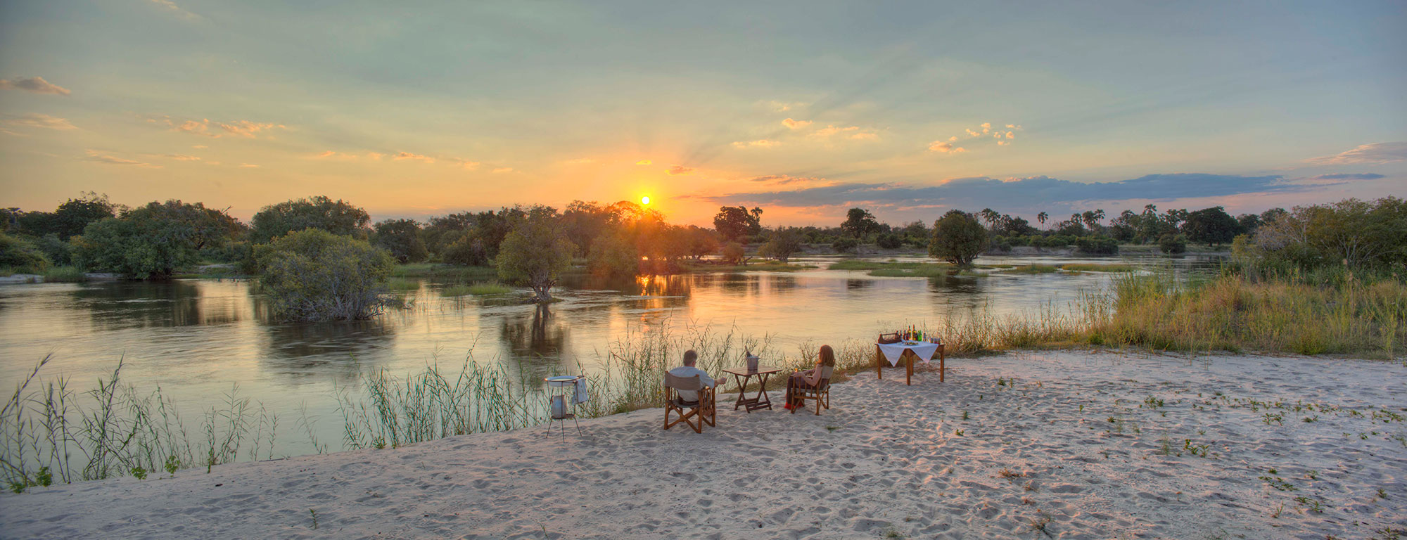 The River Club, Zambezi River at sunset