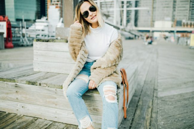 Faux Fur Jacket | Charmed by Camille