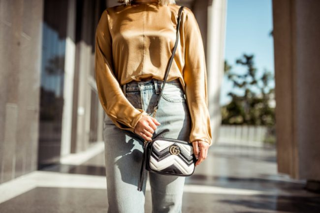 Gold Silk Blouse | Charmed by Camille