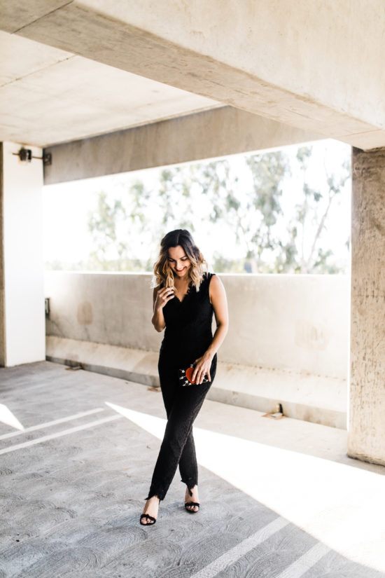 Black Lace Jumpsuit | Charmed by Camille