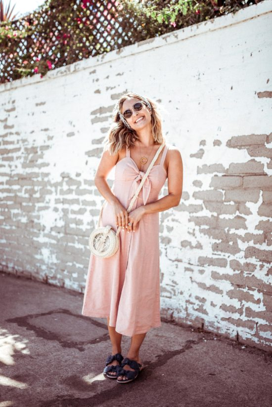 Pink Button Up Dress   Charmed by Camille