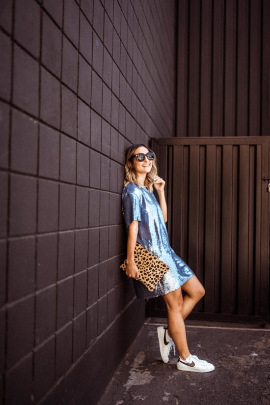 Blue Sequin Dress | Charmed by Camille