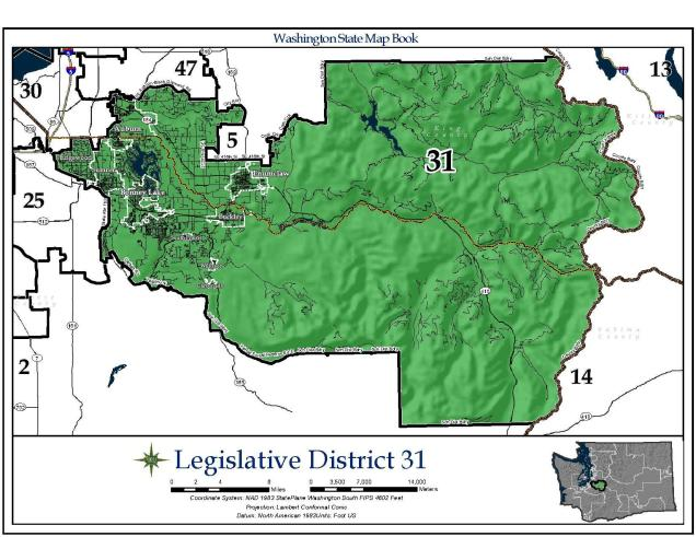 Map of WA Legislative District 31