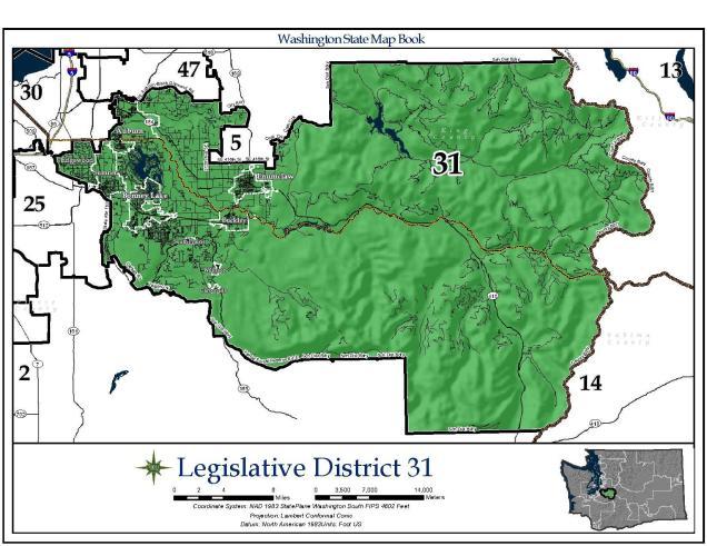 Map of WA Legislative District 31