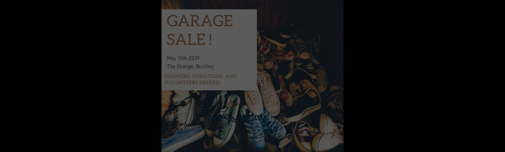 Huge Garage Sale: May 11