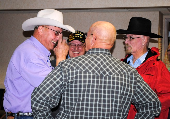 Vets of the 31st Engineer Battalion (Combat) enjoy catching up at the 2011 reunion in Branson, MO