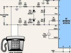 dtmf decoder ic mt8870 pin diagram 03 jetta 2 0 engine receiver sample test circuit kt3170 electronics
