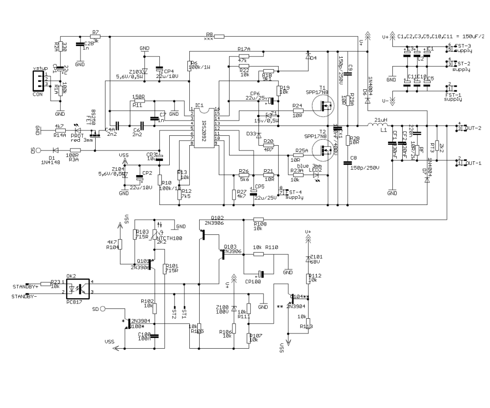 medium resolution of 400w claas d subwoofer amplifier circuit irs2092 electronics tda7250 high power audio amplifier circuit diagram electronic project