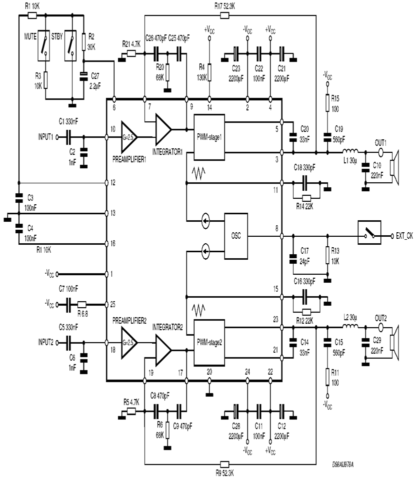 hight resolution of tda7490 circuit schematic 120x120 tda7490 class d amplifier project