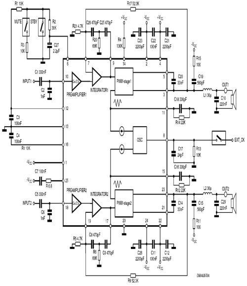 small resolution of tda7490 circuit schematic 120x120 tda7490 class d amplifier project