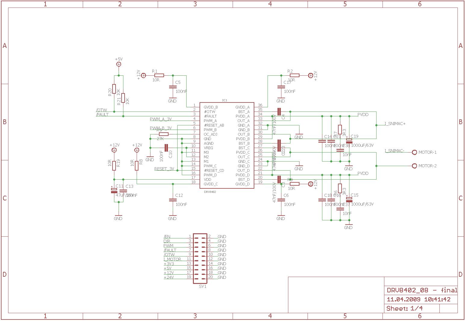 bridge dc motor circuit
