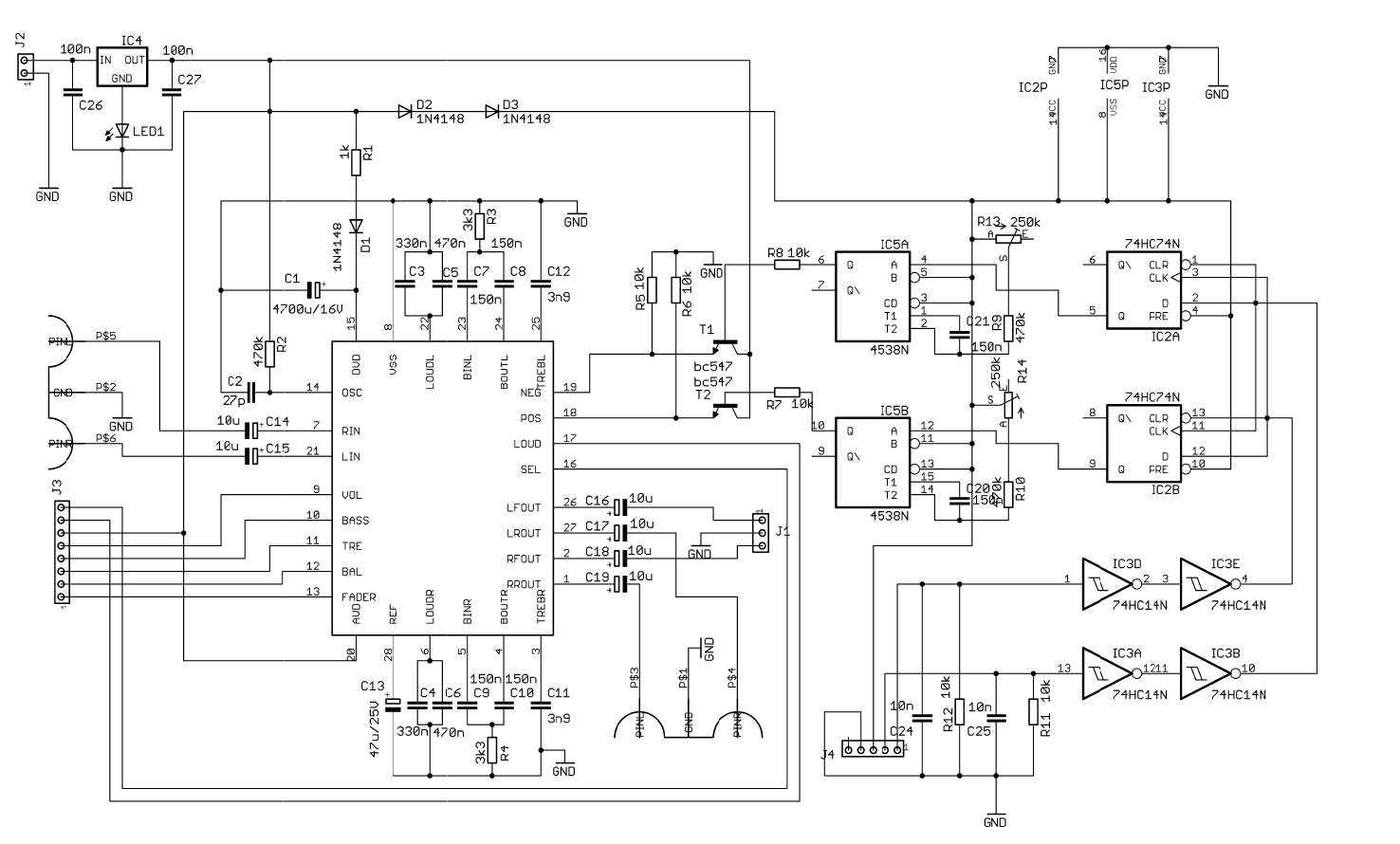 hight resolution of pt2317 preamplifier circuit schematic 120x120 pt2317b digital preamp circuit