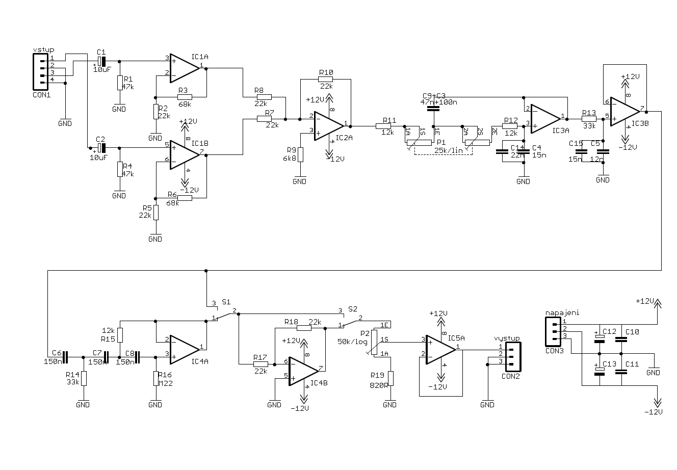 hight resolution of class d subwoofer pre amplifier circuit