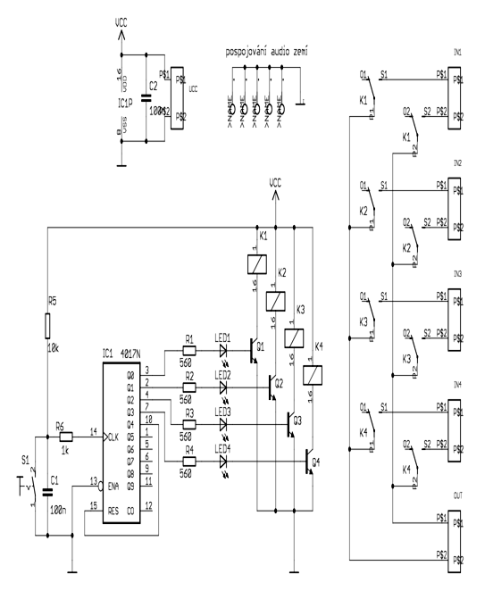 circuit of relay switch