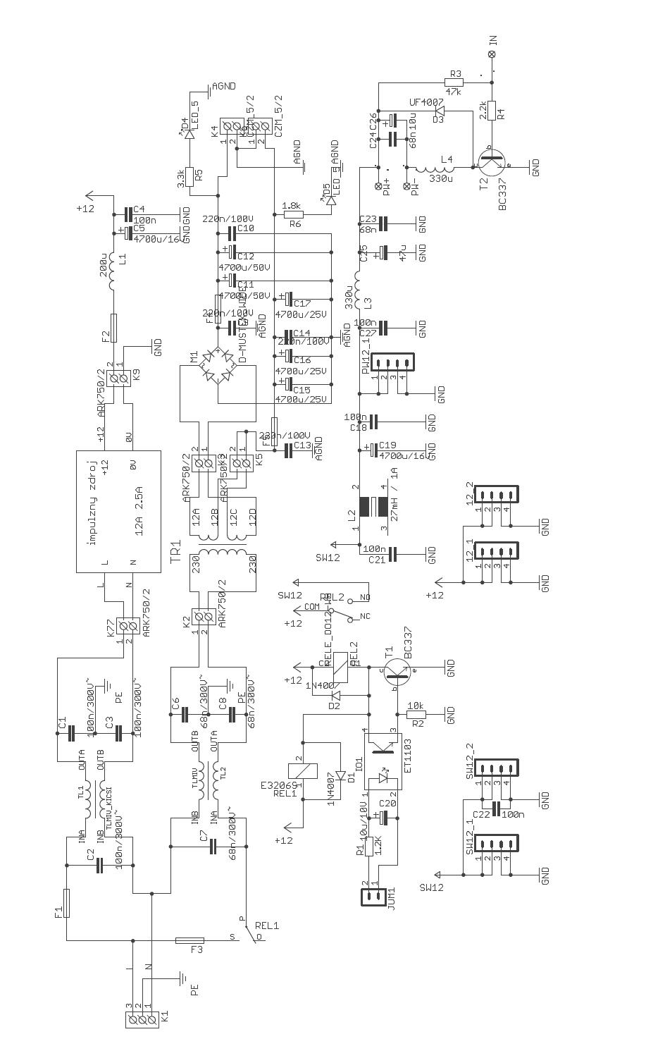 audio amplifier schematic diagram
