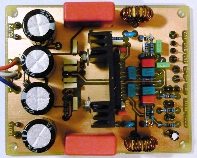 Class D Amplifier Circuit Schematic