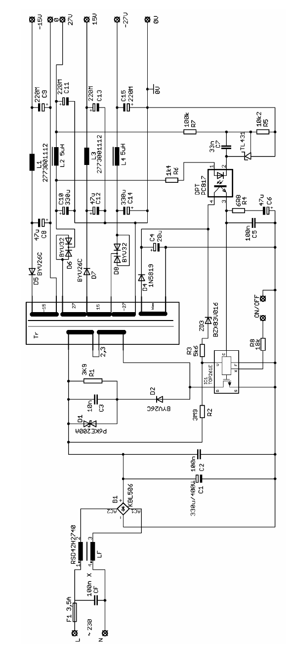 schematic diagram for power supply