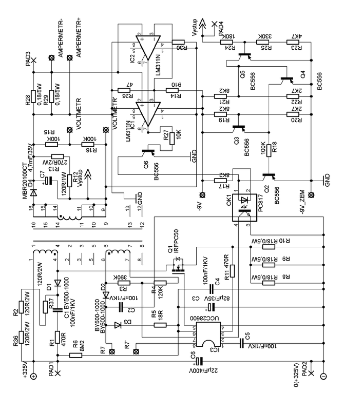 lab power supply circuit pcb schematic all files alternative links