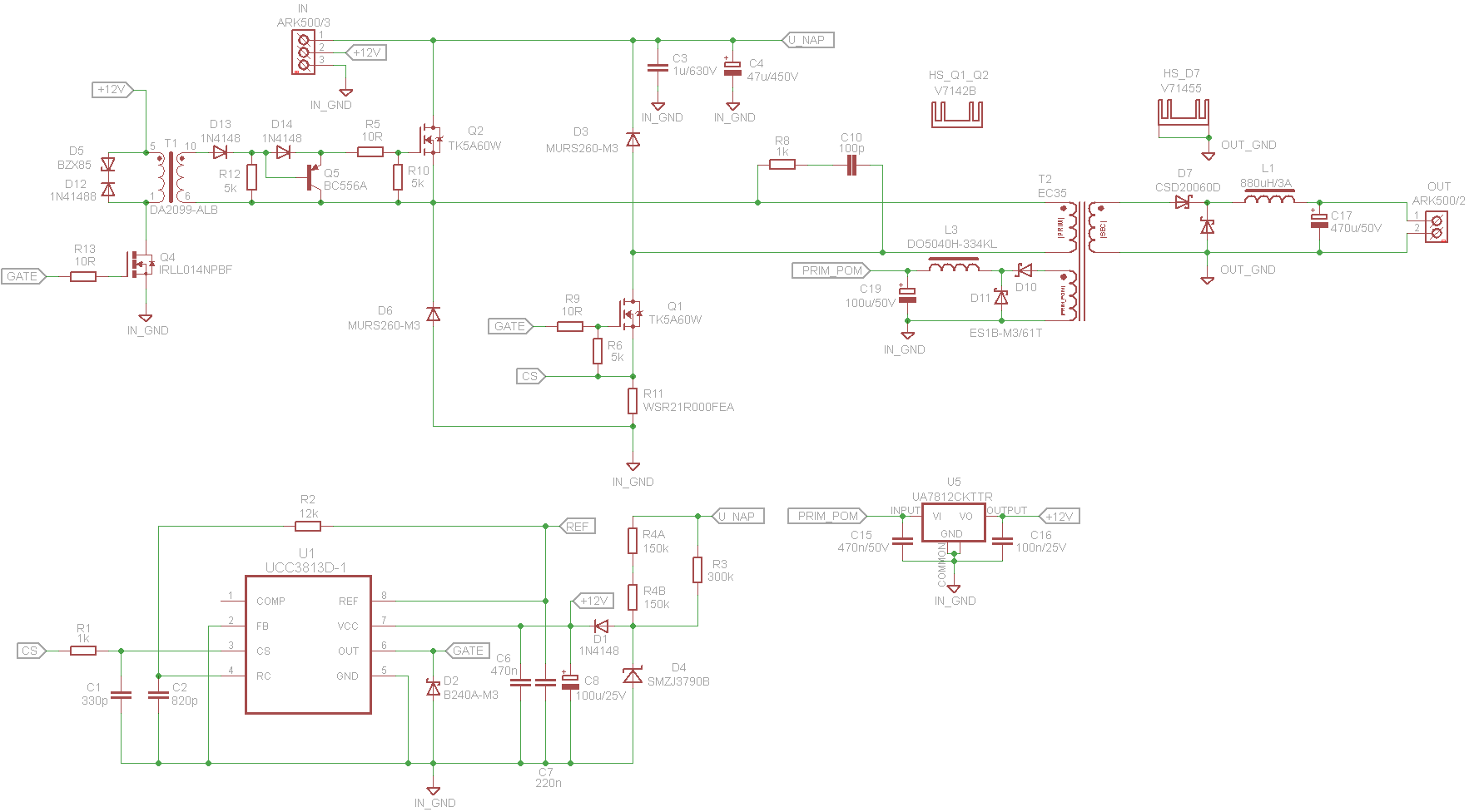 triac driver circuit schematic