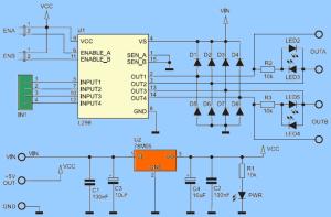 Universal DC Motor Controller L298 Circuit  Electronics