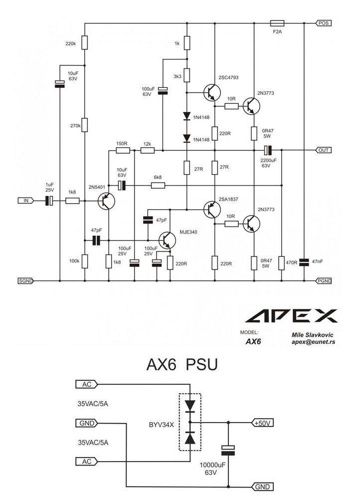 2sc5200 amplifier circuit diagram