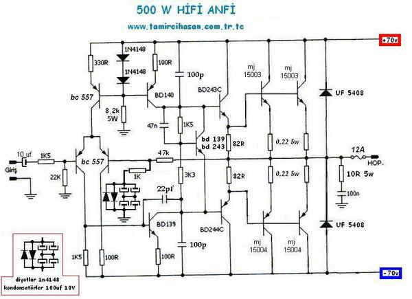 circuit diagram amplifier 500 watt