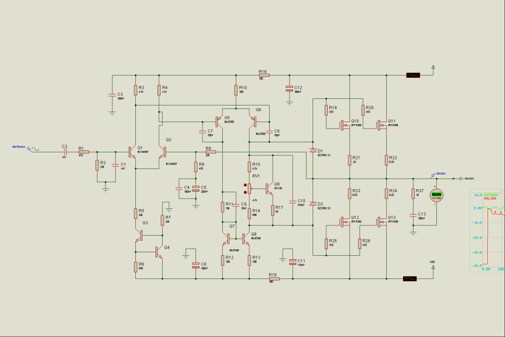 medium resolution of mosfet 400w stereo power amplifier circuit irfp9240 irfp240 proteus tda7250 high power audio amplifier circuit diagram electronic project