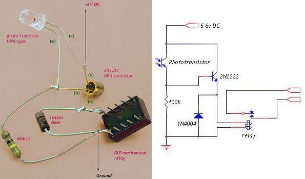 simple relay circuit diagram how to wire an ignition coil foto transistör ile röle kontrolü (basit devre) – elektronik devreler projeler