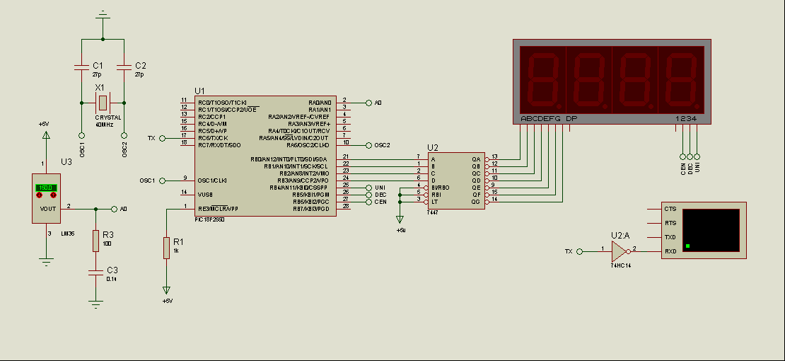 Circuit Picbasic Source Code Proteus Isis Simulation Schematic 433mhz