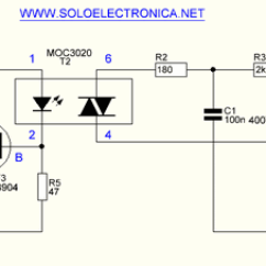 Lighting Ballast Wiring Diagram Ecu Hyundai Isolated Triac Control Circuit Moc3020 - Electronics Projects Circuits