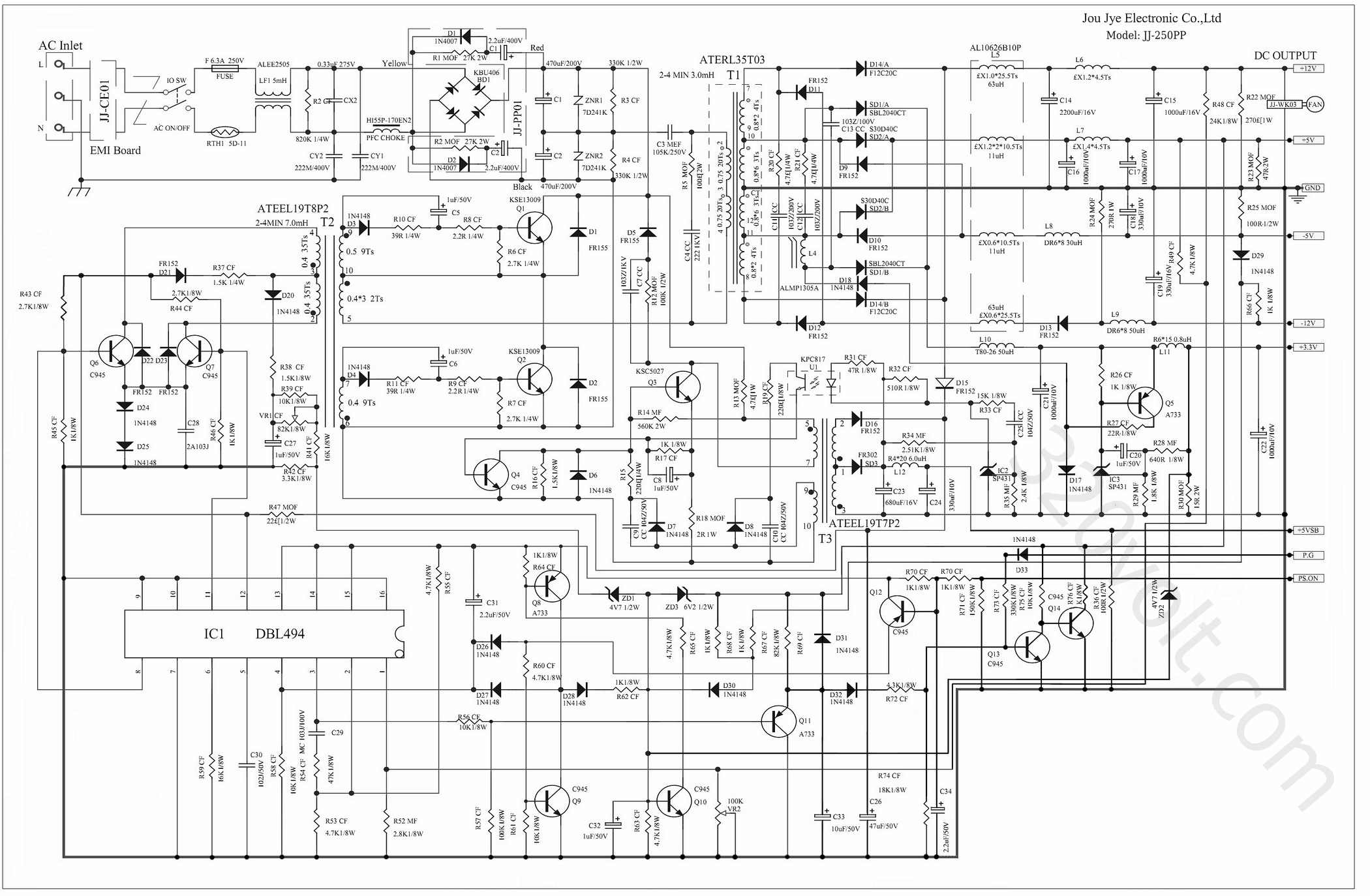 Power Supply Circuits Schematics