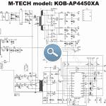 Mtech KOB-AP4450 ATX SG6105 450W SMPS