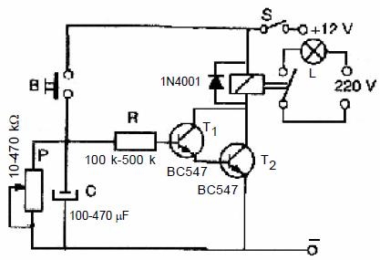 Off Delay Relay Circuit Off Delay Motor wiring diagram