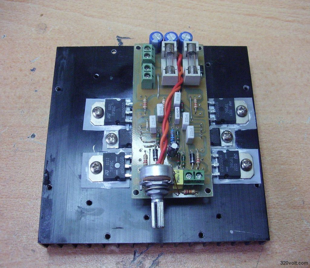 200 Watt Amp Mosfet Amplifier Schematic Using Philips Transistors