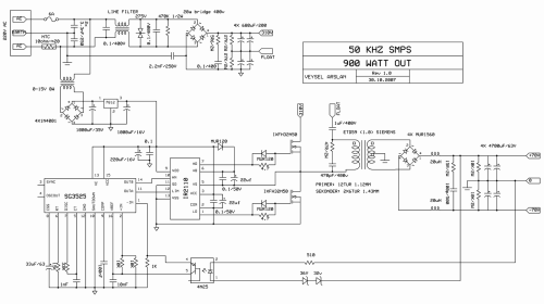 small resolution of  switch mode power supply circuit sg3525 ir2110 900w smps 50khz 4n25 sg3525 smps ir2110 smps 900w