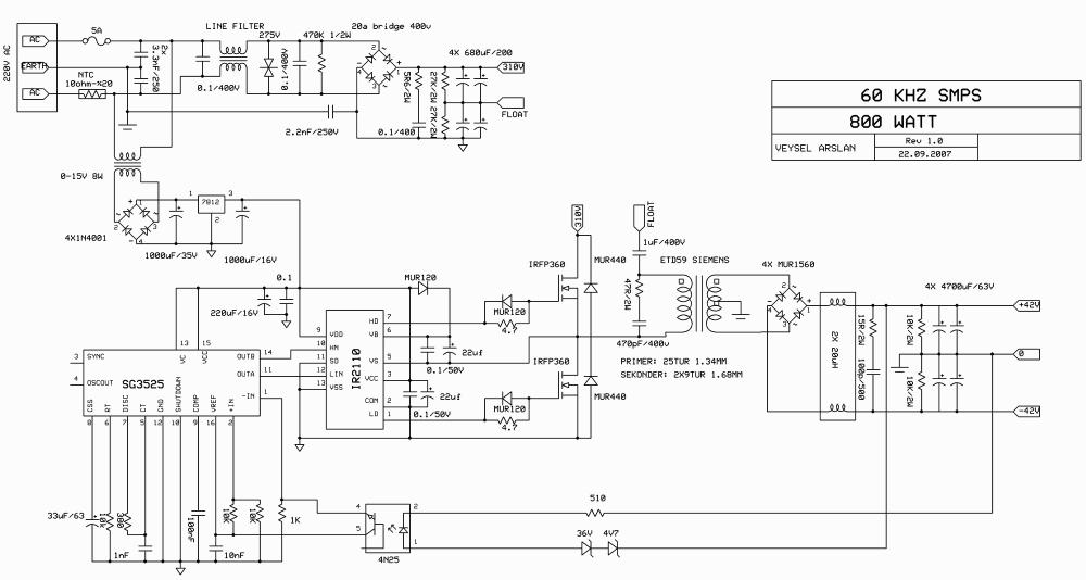 medium resolution of switch mode power supply circuit sg3525 ir2110 900w smps 5000w power inverter schematic diagram sine wave
