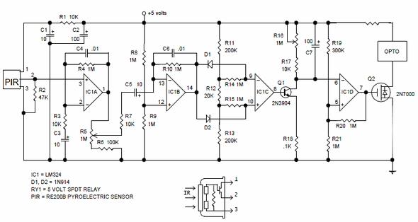 re200b pyroelectric passive infrared sensor