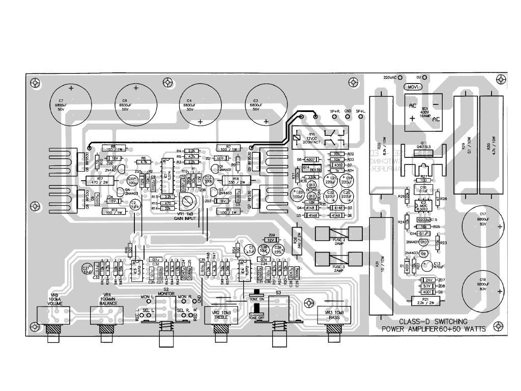 hight resolution of 2 60w class d mon 220v q4015l5 moc3010 120x120 an interesting class d amplifier design regulated