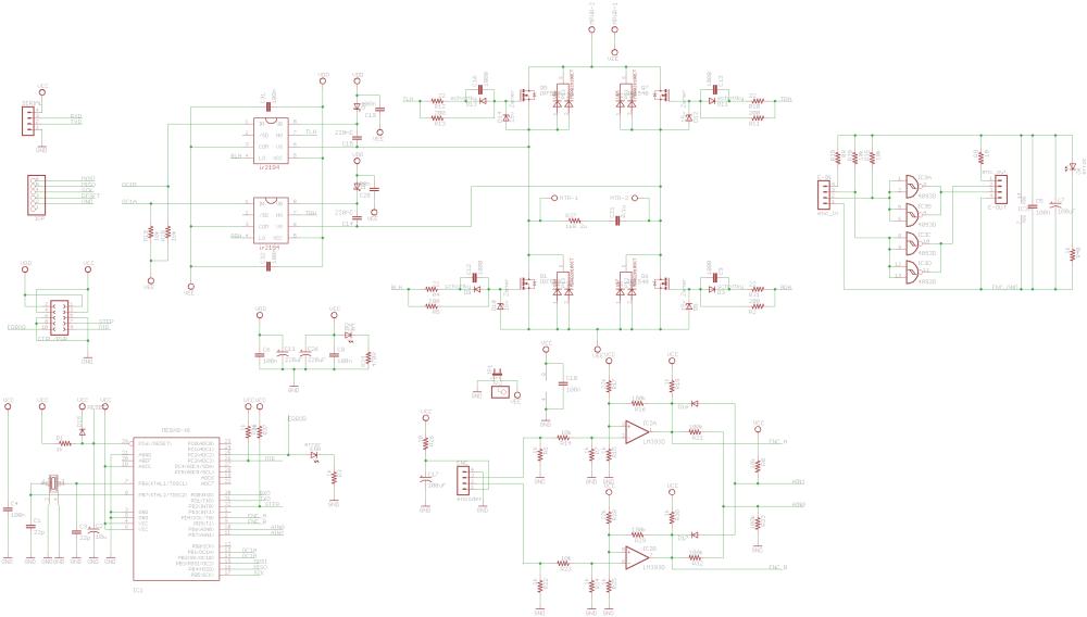 medium resolution of ir2184 gate drivers dc servo drive pid loop pwm locked 120x120 atmega88 ir2184 dc servo motor