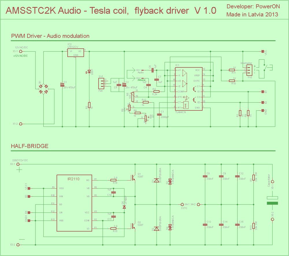 medium resolution of audio tesla tl494 ir2110 igbt irfp054n pwm driver tesla coil flyback eth 120x120 pwm vu meter