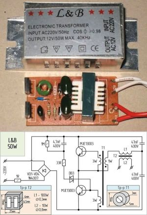 Electronic Transformers Circuit Schematics 12V Halogen