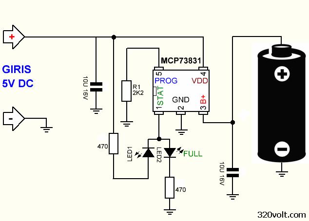 Li-ion Pil Şarj Entegreleri MCP73831 TP4056