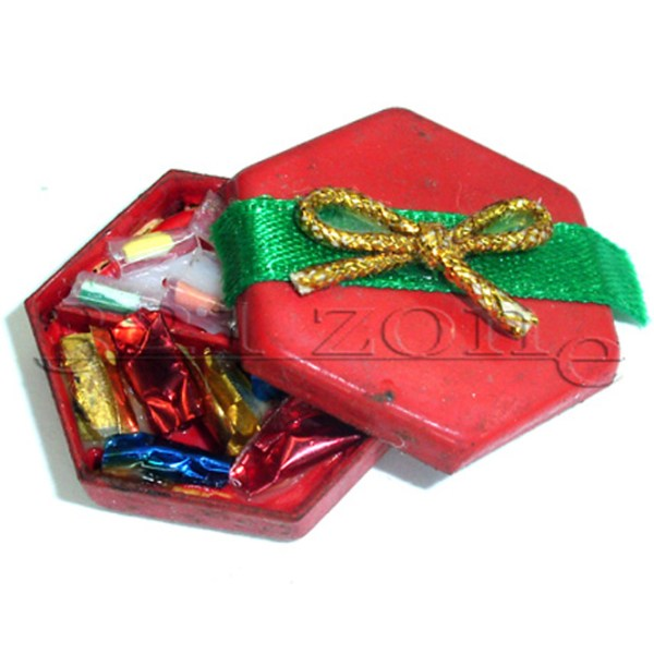 Miniature Box Chocolates Praline Candies Sweets Food Gift