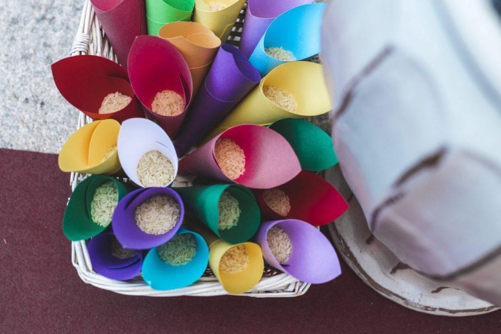 Lanzar arroz en las bodas, 8 alternativas divertidas y originales